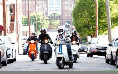 7 Hills Scooter Club scooter rallies in the fall